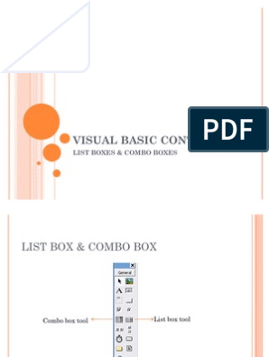 listbox,combobox,Visual basic 6 0