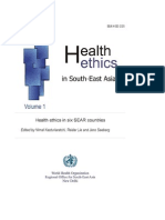 Health Ethics in South-east Asia