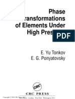 Phase Transformations of Elements Under High Pressure - Tonkov