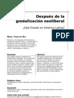 Estado después de la globalización neoliberal (Mabel Thwaites Rey)