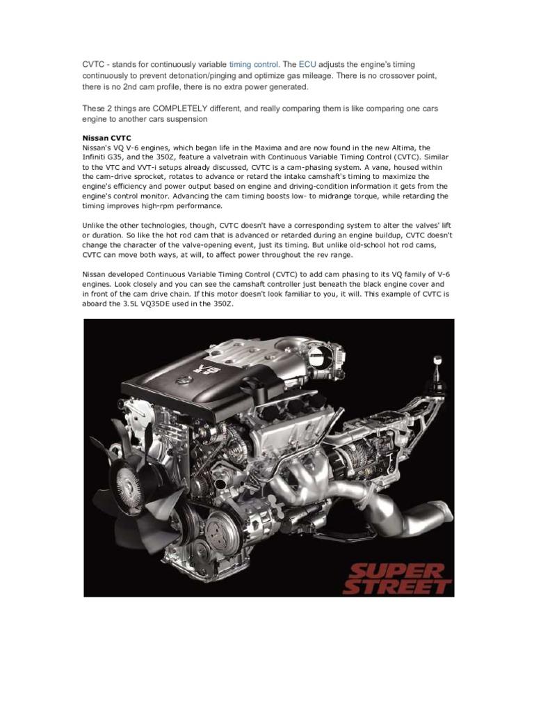 Cvtc Nissan 3 5l Engine Diagram