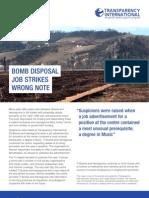 Alac Bomb Disposal Job Strikes Wrong Note