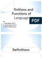 Function of Language