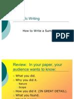 03) How to Write a Summary