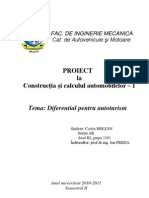 Proiect - Diferential autoturism
