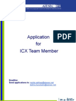 AIESEC Sarajevo Application for ICX Team Member