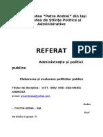Referat Administratie Si Politici Publice