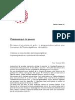 Grève à la Comédie française