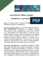 dilatazione termica lineare pirometro o dilatometro