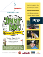 Jimmy Mac 2012 Sponsor Packet