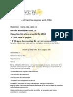 Cotización pagina web OKA