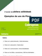 World Plone Day 2008 Erabilera Adibideak / Ejemplos de uso (es/eu)