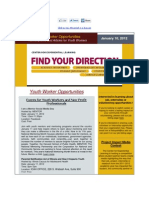 Youth Opportunities Newsletter Jan 10, 2012