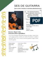 Clases de Guitarra con Rique Colón 2012