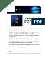 to Da Europa de Futsal Na Rtp