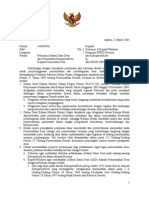 UU-Surat Edaran Mendagri Mengenai Penentuan ADD 2005 Dari Pemerintah Kabupaten-Kota Kepada Pemerintah Desa
