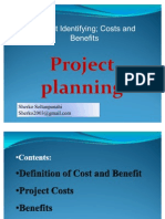 Project Identifying; Costs and Benefits