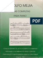 Adolfo Mejía - Obras Completas Para Piano