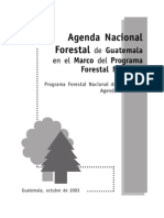 Agenda Nacional Forestal de Guatemala en el Marco del Programa Forestal