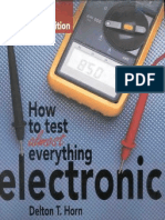 How to Test Almost Everything Electronic 3rd Ed