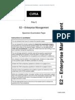 E2 – Enterprise Management