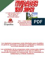 ACTIVIDADES PERÚ 2012