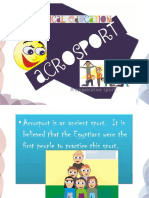 Presentation of acrosport