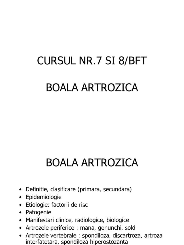 tratament de clasificare a artrozei)