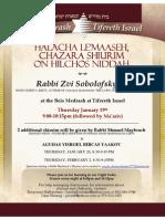 Rabbi Sobolofsky - Niddah Chazarah