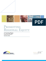 promoting regional equity