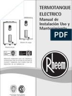 Manual Termotanques Rheem - Linea Electrica[1]