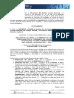 CONVOCATORIA SENADORES RP