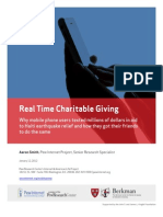Real Time Charitable Giving