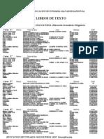 LIBROS ESO 2010-11