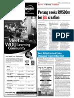 TheSun 2008-11-07 Page06 Penang Seeks RM500m for Job Creation