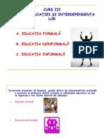 Educatia Formala, Non Formal A, Informala