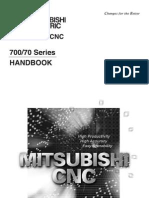 CNC Mitsubishi Serie700-70 Handbook | Switch | Cartesian