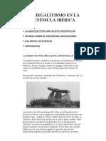 EL MEGALITISMO EN LA PENÍNSULA IBÉRICA