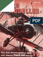 Cessna 172. Scale Free Flight, Rc Plan. Aeromodeller July 1957