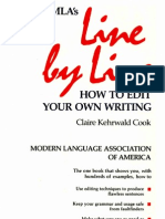 Cook, Claire Kehrwald - The MLA's Line by Line, How to Edit Your Own Writing (1985)