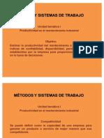 MÉTODOS Y SISTEMAS DE TRABAJO clase