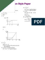 Exam Style Paper