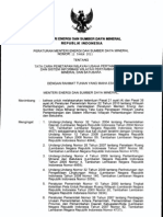 Permen ESDM 12 2011 Ttg Tata Cara Penetapan Wilayah Usaha an Dan Sistem Informasi Wilayah an Minerba