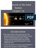 Components of the Solar System Review