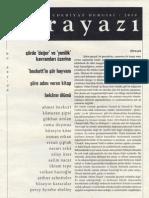 Ahmet Bozkurt, Şiire Adını Veren Kitap, Karayazı, Aralık 2010, sayı 9