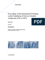 Proceedings of the International Workshop on the Foundations of Service-Oriented Architecture (FSOA 2007)