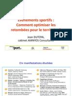 Évènements sportifs - Comment optimiser les retombées pour le territoire