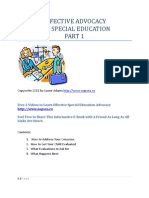 Effective Advocacy for Special Education
