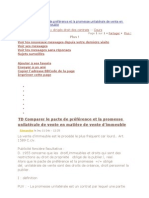 TD Comparer le pacte de préférence et la promesse unilatérale de vente en matière de vente d