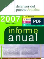 Resumen Informe Defensor Pueblo Andaluz 2007
